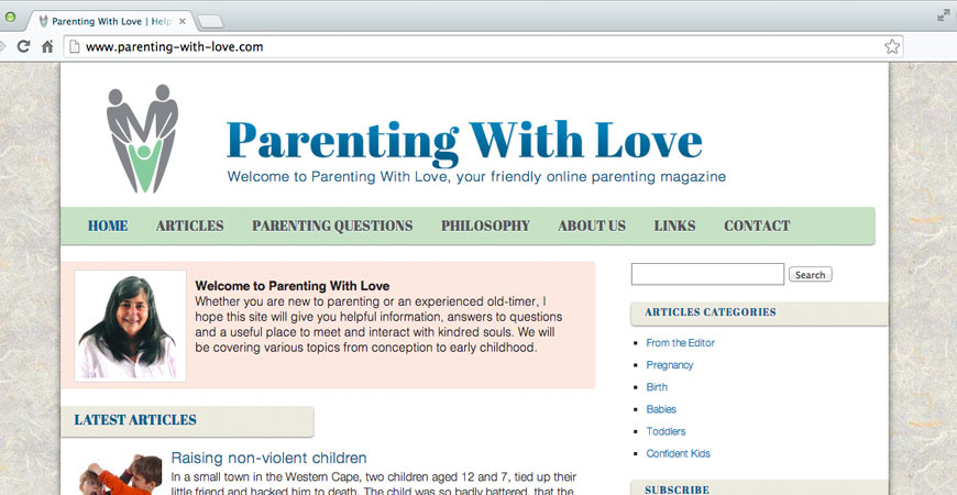 Parenting With Love Web Design 1